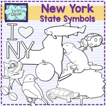 New York state symbols clipart