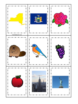 New York themed Memory Matching and Word Matching preschool curriculum game