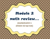 New York/Eureka Math 5th grade (module 2 review: tic-tac-toe}