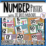 Maori & English 0-20 Number Posters + numbers 10-100