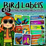 New Zealand Native Bird Labels {Editable}