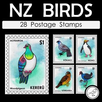 New Zealand Birds – Postage Stamps