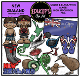New Zealand Clip Art Bundle {Educlips Clipart}