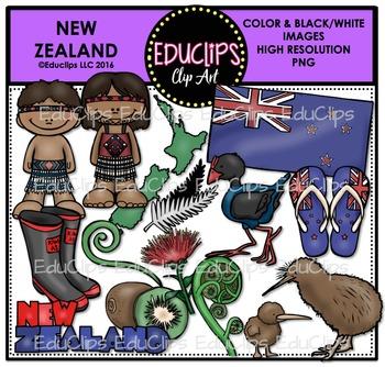 New Zealand Clip Art Bundle {Educlips Clipart}