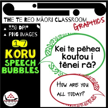 New Zealand Clip Art: Māori Designs- Koru Speech Bubbles