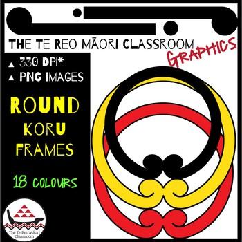 New Zealand Clip Art: Māori Designs-Koru Round Frames