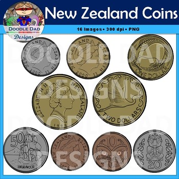 New Zealand Coins (Currency, Money, Change)