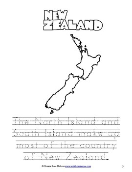 New Zealand Coloring Book-Level B