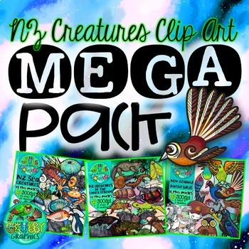 New Zealand Creatures Clip Art Mega Pack