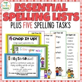 New Zealand Essential Spelling List Revision Cards PLUS Fi