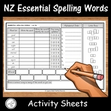 New Zealand Essential Spelling Words – Activity Sheets – Lists 1-8
