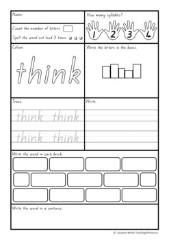 New Zealand Essential Spelling Words – Activity Sheets for Lists 5-6