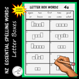 New Zealand Essential Spelling Words – 'Letter Box' Activity Sheets