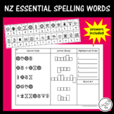 New Zealand Essential Spelling Words – Mystery Codes