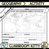 New Zealand Fact File Worksheet