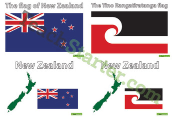 New Zealand Flags – Colour
