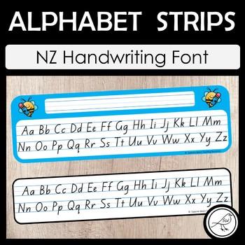 New Zealand Handwriting – Alphabet Strips
