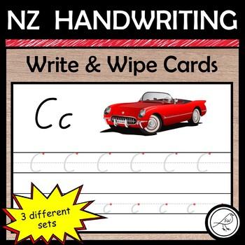 New Zealand Handwriting – Alphabet 'write and wipe' cards