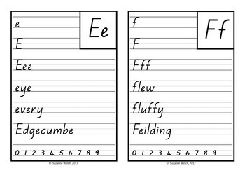 New Zealand Handwriting Cards - Place in NZ
