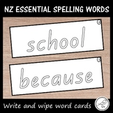 New Zealand Essential Spelling Words (Lists 1-4) Write and