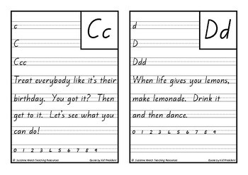 New Zealand Handwriting Copy Cards – Kid President Quotes