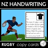 New Zealand Handwriting - RUGBY copy cards
