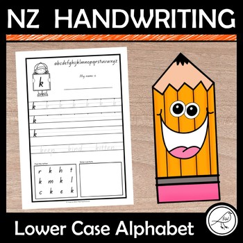 New Zealand Handwriting – lower case alphabet a-z