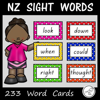 New Zealand Sight Words - 233 Word Cards