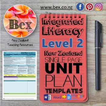New Zealand Integrated Literacy Unit Plan Template (Level 2 NZC)