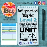 New Zealand Integrated Topic Unit Plan Template (Level 2 NZC)