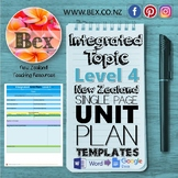 New Zealand Integrated Topic Unit Plan Template (Level 4 NZC)