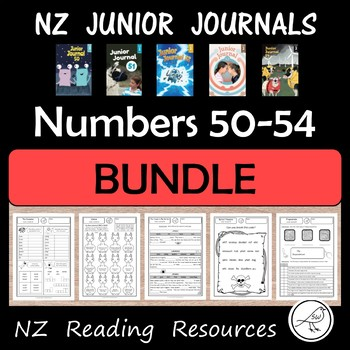 New Zealand Junior Journal Activity Sheets - BUNDLE for numbers 50-54