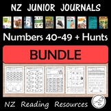 New Zealand Junior Journals Worksheet BUNDLE for numbers 40-49