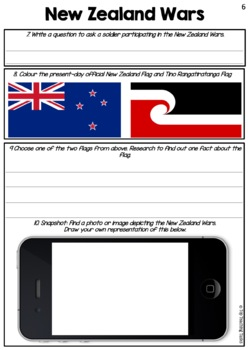 New Zealand Land Wars Reading Comprehension Activities FREE