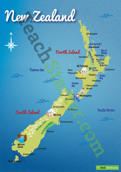 New Zealand Landform Map