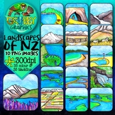 New Zealand Landscapes & Physical Features Clip Art