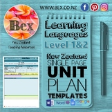 New Zealand Learning Languages Unit Plan Template (Level 1&2 NZC)