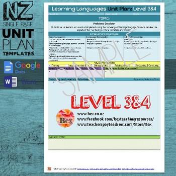 New Zealand Learning Languages Unit Plan Template (Level 3&4 NZC)