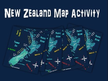 New Zealand Map Activity- fun, engaging, follow-along 25-slide PPT
