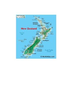 New Zealand Map Scavenger Hunt