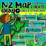 New Zealand Map labels {550+ Town, City & Region Labels}
