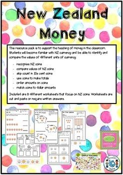New Zealand Money Activities
