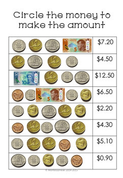 New Zealand Money Bundle Level 2