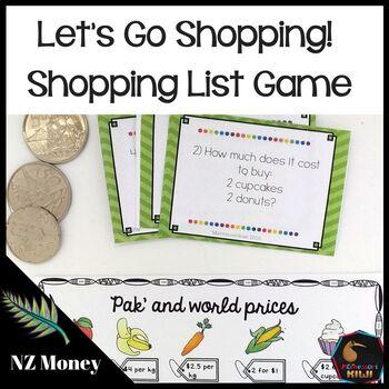 New Zealand Money - Level 3 Shopping List