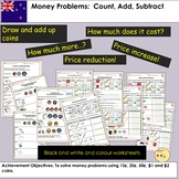 New Zealand Money Worksheets: Count, Add, Subtract Tasks and Word Problems