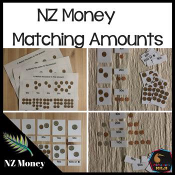 New Zealand Money level 1: matching amounts