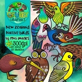 New Zealand Native Bird Clip Art
