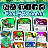 New Zealand Native Bird Fact File Cards
