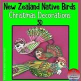 New Zealand Native Birds Christmas Decorations