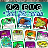 New Zealand Native Bugs Fact Files + Task Cards